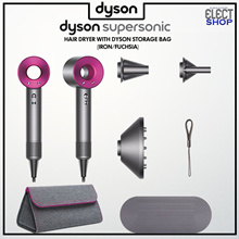 Dyson Supersonic Hair Dryer (Iron/Fuchsia) with Dyson Storage Bag