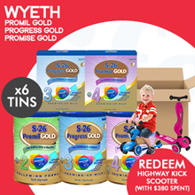 [WYETH] S-26 Promil Gold Progress Gold and Promise Gold 【5+1 CARTON DEAL!】