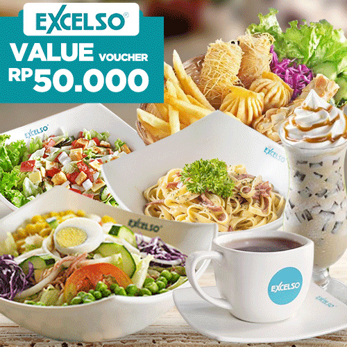 [BEVERAGE] Value Voucher 50K /Excelso Deals for only Rp40.000 instead of Rp50.000