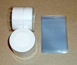 EMPTY LIP BALM TUBES 100 Clear Shrink Wrap Bands Sleeves for Lip Balm (Carmex) Jars - Tamper Evident