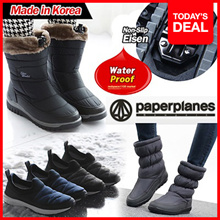 ★2018NEW ARRIVALS~! ★Made in Korea★ PaperPlanesWomens Warm Suede Winter Fur Snow Boots