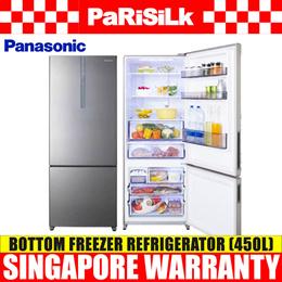 Panasonic NR-BX468XSS1 2 Door Bottom Freezer Refrigerator - 1 Year Singapore Warranty