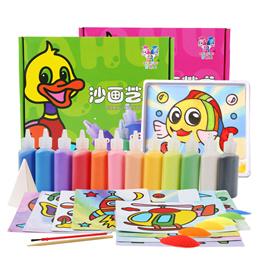 Deluxe Sand Art Kits/ Light Clay*12 / 24 bottles coloured sand*Children Art n craft*gifts
