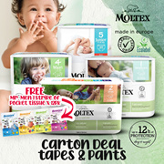 [Carton Sale] Moltex Pure and Nature Baby Diapers/Pants NB / S / M L / XL / XXL Size available