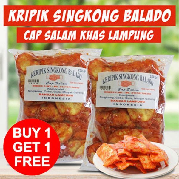 ( GET 2 PCS ) KRIPIK BALADO CAP SALAM KHAS LAMPUNG] / FREE SHIPPING JABODETABEK Deals for only Rp51.000 instead of Rp51.000