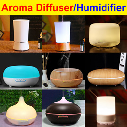 2019 Qoo10 Best Price New Design ★24 New Models★ Ultrasonic Aroma Diffuser/ Humidifier/ Nebulizer