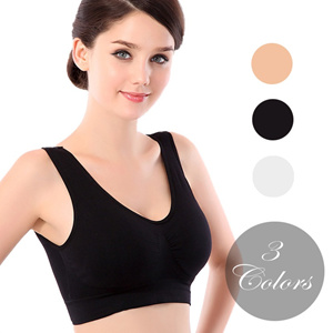 6b2c96e4e3 BR3001 - Seamless Comfort Classic Color Maternity Yoga Padded Sports Bra (S  to XXXL)