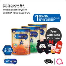 [Enfagrow A+] [3 TINS PROMO] 360 DHA PLUS Stage 3/4/5 |1.8kg| 3 tins bundle