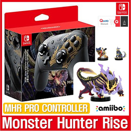 [Ready Stock]  Monster Hunter Rise Pro-Controller  / MSR Amiibo 3 in 1 SET