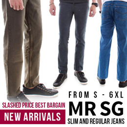 MR SG JEANS!!! AVAILABLE IN DIFFERENT CUTS AND WASHES. SLIM AND REGULAR JEANS