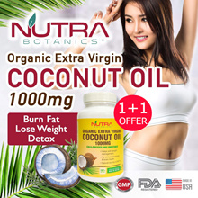 🔥1+1 Promo. 3 Days Only🔥Burn Belly Fat 🔥Organic Extra Virgin Coconut Oil 1000mg Softgel