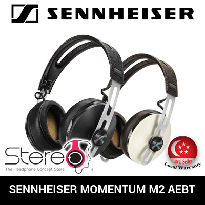 9f26e75f68e SENNHEISER MOMENTUM M2 AROUND-EAR WIRELESS HEADPHONES / HEADSET / BLUETOOTH  /BLACK/IVORY