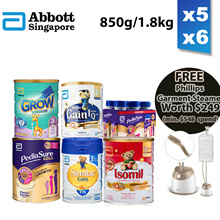 *Apply $20+$8 Coupon* Similac/Pediasure/Grow/Isomil Milk Formula 850g/900g/1.8kg [Local Stock]