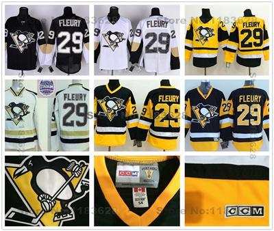 new arrival d9977 5bfff 2015 Pittsburgh Penguins Jersey #29 Marc-Andre Fleury Jerseys Stadium  Series New Alternate Black Mar