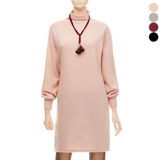 フォーカスソフトパフスリーブワンピースVFGW1OP4210 面ワンピース/ 韓国ファッション