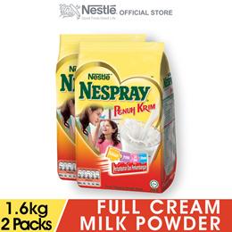 NESPRAY Full Cream Milk Powder Soft Pack 1.6kg x2 packs