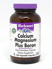 BlueBonnet Calcium Magnesium Plus Boron Vegetarian Capsules, 180 Count
