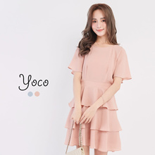 YOCO - Tiered Cut-out Dress-171569