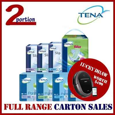 [LOWEST PRICE GUARANTEED][VALUE M FREE 8PCS][READY STOCK] TENA VALUE/SLIP PLUS/ SUPER/MAXI Deals for only S$119.9 instead of S$0