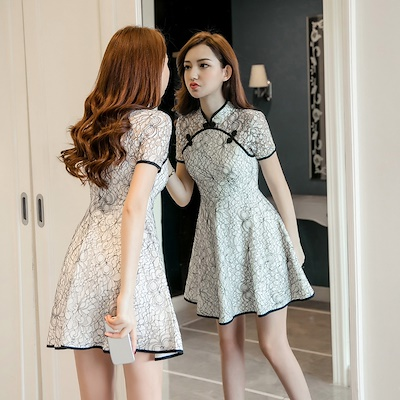 2018 Summer New Korean Style Women S Dress Girl Dress Up Slim Temperament Lace