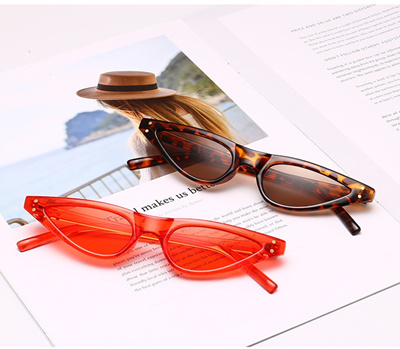 76305d169c new small sunglasses women cat eye vintage black leopard red triangle  stylish cat eye sun glasses