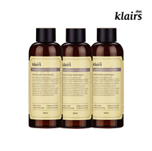 KLAIRS bulk (-3%) SUPPLE PREPARATION FACIAL/UNSCENTED TONER 3EA 180ml + 2in 1 cotton pad (free gift)