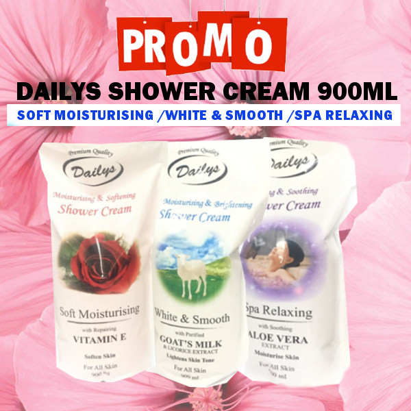 [ PROMO ] DAILYS SHOWER CREAM 900ML Deals for only Rp50.000 instead of Rp50.000