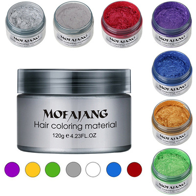 Temporary Fashion Unisex Diy Hair Color Wax Mud Dye Cream Pomade Salon Tools