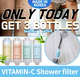 NEW ♥ H201 x 3 ♥ Vitamin C Shower filter for 2 months *MADE IN KOREA* DRY SKIN
