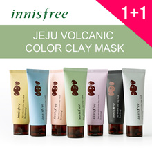 [Innisfree] ★1+1★  Jeju volcanic color clay mask (7 Colors) 70ml