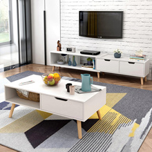 [Agoramart]Simple Modern Length Adjustable TV Console | Coffee Table