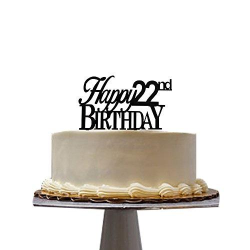 Awe Inspiring Qoo10 Santonila Santonila Happy 22Nd Birthday Cake Topper Black Personalised Birthday Cards Akebfashionlily Jamesorg