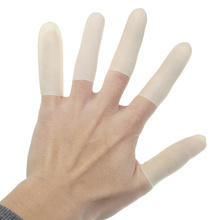 100Pcs Cutting Edge Latex Finger Cot Anti Slip Rubber Fingertip Protective Finger Gloves