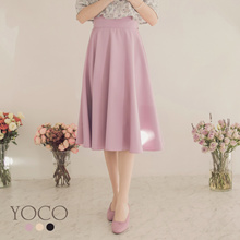 YOCO - Tie Belt Full Skirt-181558-Winter