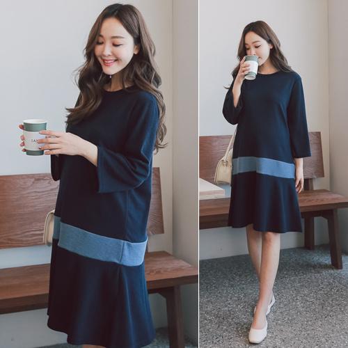 [SOIM] 大人可愛いを叶えたいなら♡ / 体型カバー / フリーサイズ/ ワンピース / 韓国ファッション / 妊婦服 /  すべての女性の着用可能!