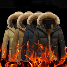 Warm Winter Men  s Jacket  Large Size Men  S Padded Jacket Thickening Cotton Short Winter Clothes