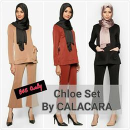 CLEARANCE!! CALACARA | Pants Suit | Formal Wear | Muslimah | Hijab | Tops | Blouse |