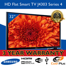Samsung 32 Inches LED TV UA32J4003. DVB-T2. Supports USB devices. Digital TV. 3Years Warranty