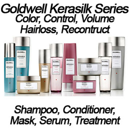 Goldwell kerasilk color control recontruct hairloss volume mask shampoo conditioner treatment spray