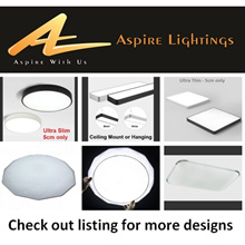 LED Ceiling Light Living Study Room Bedroom Kitchen Balcony Home Office 1 Year Warranty SG Seller