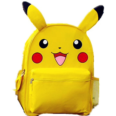 018997c33112 sale Monster Yellow Pikachu Small Big School Backpack Book Bag with Ear for  Kids Mochila Xmas