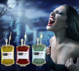 [SG Seller] Halloween Zombie Alien Vampire Cosplay Party Events Beverages Creative Juices Blood pack n bag container