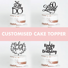 Customised CardStock Acrylic Wooden Cake Topper / Birthday / Baby Shower / Wedding