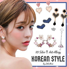 LITTLE MOMO 🌹 925 SILVER EARRINGS ANTI-ALLERGY 🌹 KOREAN DESIGNS