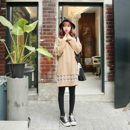 クルリクエンミ二列のワンピース プリントのワンピース/ 韓国ファッション