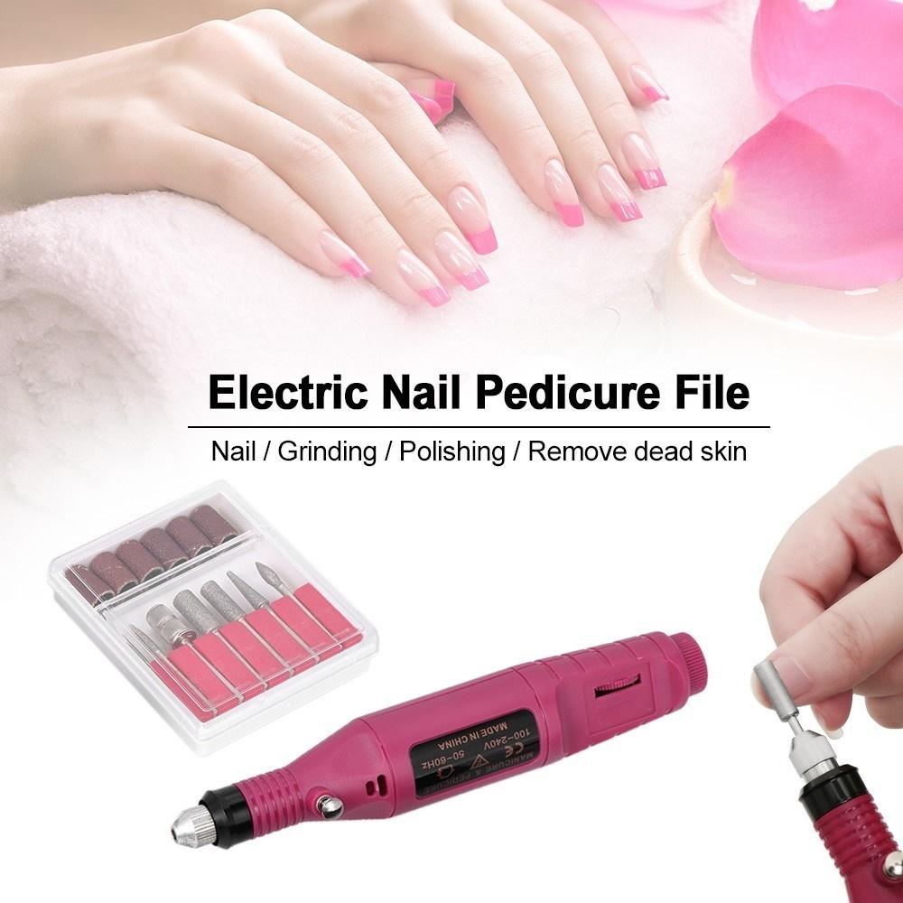 Electric Nail Manicure Pedicure File Drill Machine Art Mini Pen Shaped  Polish Drill Equipment Tools
