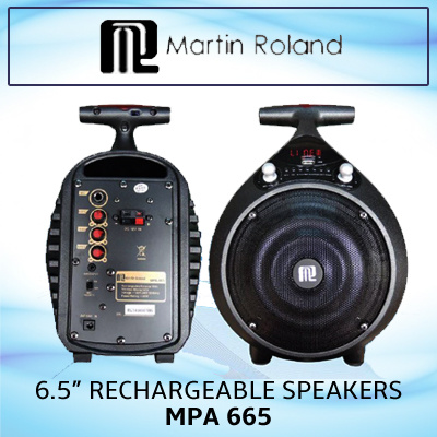 Martin Roland MPA 665 / 6 5in Reachargeable speakers / 20Hz - 20kHz / 100W  / 71dB / 12V Battery