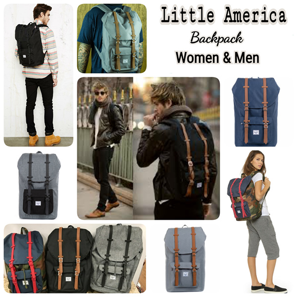 Little America Backpack ||Sporty Rubber Series and Leather Straps ||Ready 2 Sizes 17L and 25L Deals for only Rp599.000 instead of Rp599.000