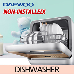 [DAEWOO] Non-installed dishwasher / Built-in smart water tank / Total drying system