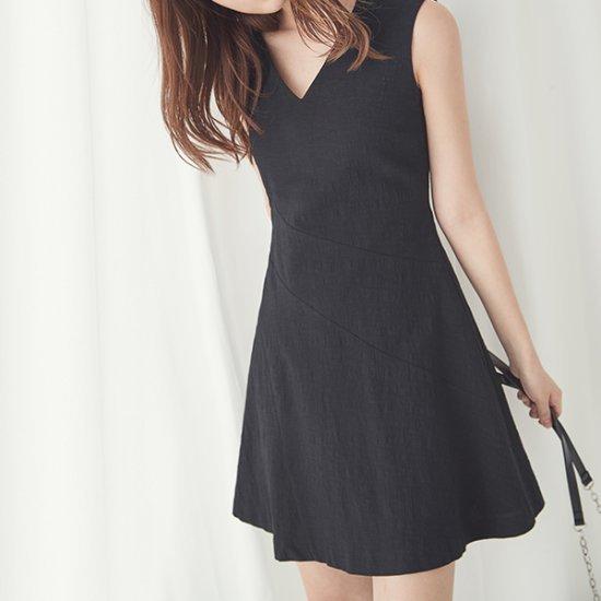 ナインNAINジャカード・ピッエンフレアワンピースOP3253 面ワンピース/ 韓国ファッション